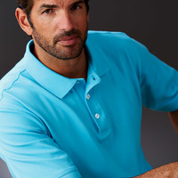 UltraClub® Men's Classic Platinum Polo