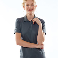 UltraClub® Ladies' Cool & Dry Mesh Piqué Polo