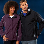 Ladies' Seam-Sealed Waterproof/Breathable Hooded Shell Jacket