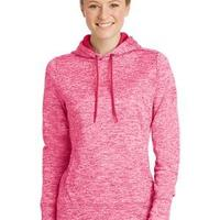 Ladies PosiCharge ® Electric Heather Fleece Hooded Pullover