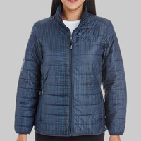 Ladies' Portal Interactive Printed Packable Puffer