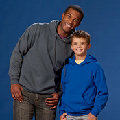 Hanes Youth ComfortBlend® EcoSmart® Hooded Pullover Fleece