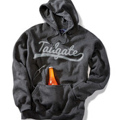 J.America Adult Tailgate Hooded Pullover Fleece with Bottle Opener