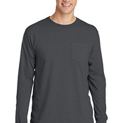 Essential Pigment Dyed Long Sleeve Pocket Tee