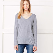 +CANVAS Ladies' Flowy Long-Sleeve V-Neck