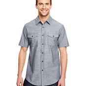 Mens Chambray Woven Shirt