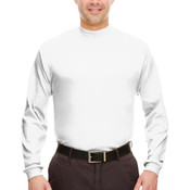 Adult Egyptian Interlock Long-Sleeve Mock Turtleneck