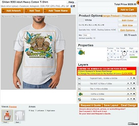 Create Custom Apparel Quote Request in TerrificT Designer