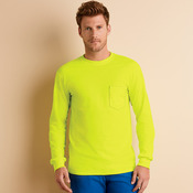 Ultra Cotton® Adult Long-Sleeve T-Shirt with Pocket