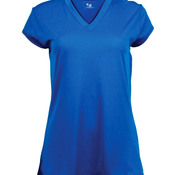 Solid Color Cap Sleeve Ladies Jersey