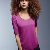 Ladies' Tri-Blend Deep Scoop 1/2-Sleeve Tee