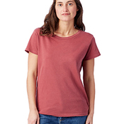 Ladies' Vintage Garment-Dyed Distressed T-Shirt