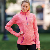 J.America Ladies' Cosmic 1/4-Zip Fleece