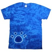 Youth Short Sleeve Paw Print Tie Dye T-Shirt