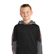 Youth Sport Wick ® Mineral Freeze Fleece Colorblock Hooded Pullover