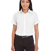 Ladies' Crown Collection™ Solid Broadcloth Short-Sleeve Shirt