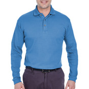 Men's Egyptian Interlock Long-Sleeve Polo