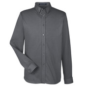Men's Central Cotton Blend Mélange Button Down