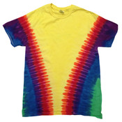 Youth Rainbow Pattern Tie-Dyed Tee