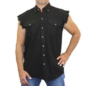 BikerWear Men's Sleeveless Denim Shirt