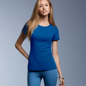 Ladies' 1x1 Baby Rib Scoop Tee