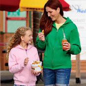 Adult NuBlend® Full-Zip Hooded Sweatshirt