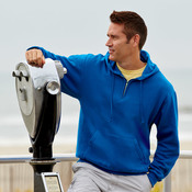 Adult NuBlend® 1/4-Zip Hooded Sweatshirt