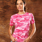 Code Five Ladies' Fine Jersey Camouflage T-Shirt