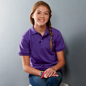 Youth SpotShield™ Jersey Polo
