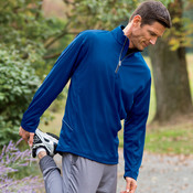 UltraClub® Adult Cool & Dry Sport 1/4-Zip Pullover