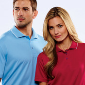 UltraClub® Men's Cool & Dry Sport Polo with Tipped Collar