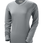 NDurance® Ladies' Athletic Long-Sleeve V-Neck T-Shirt