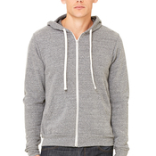 Unisex Triblend Sponge Fleece Full-Zip Hoodie