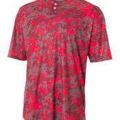 Youth Camo Two-Button Henley