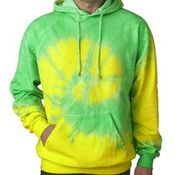 Tie-Dye Adult Fluorescent Tie-Dyed Pullover Hoodie