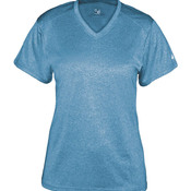 Ladies Pro Heather Short Sleeve V-Neck Performance Tee