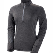 Ladies' Heather 3-Stripes 1/4-Zip Fleece