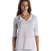 Ladies' 3.5 oz. Elbow Sleeve Footie Tee