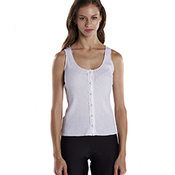 Ladies' 4.4 oz., 2x2 Button Down Tank