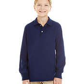 Youth 5.6 oz. SpotShield™ Long Sleeve Jersey Polo