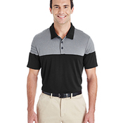 Men's 3-Stripes Heather Block Polo