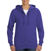 LA T Ladies Lightweight French Terry Zip Front Hoodie