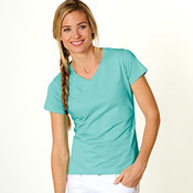 LA T Ladies' Combed Ring-Spun Jersey V-Neck T-Shirt