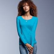Ladies' Featherweight Long-Sleeve Scoop Tee