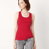 +CANVAS Ladies' 2x1 Rib Racerback Longer Length Tank