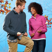 Ladies' Lightweight Micro-Fleece 1/4-Zip Pullover