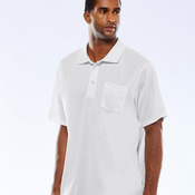 UltraClub® Adult Cool & Dry Sport Polo with Pocket