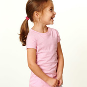 Toddler Girls' Fine Jersey Longer Length T-Shirt