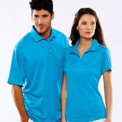 UltraClub® Men's Cool & Dry Jacquard Stripe Polo