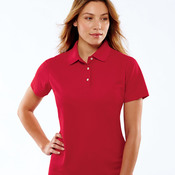 UltraClub® Ladies' Cool & Dry Pebble-Knit Polo
